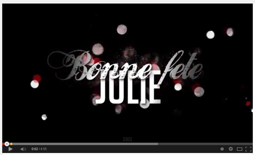 Bonne fête Julie!
